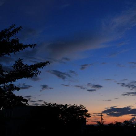 夜と昼の狭間, Canon EOS KISS X7, Canon EF-S 24mm f/2.8 STM