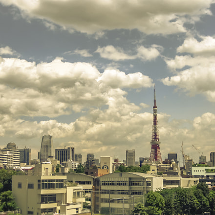 Cloudy Tokyo Day, Canon POWERSHOT SD770 IS