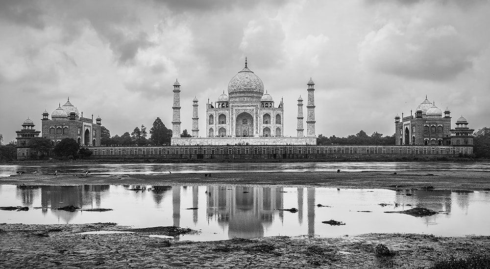 Photograph Monsoon clouds over The Taj Mahal by Sonia Blanco on 500px