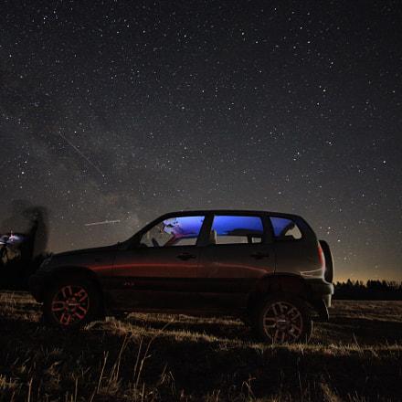 Car under Milkey Way, Canon EOS 5D MARK II, Sigma 15-30mm f/3.5-4.5 EX DG Aspherical