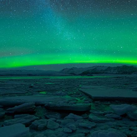 Northern Light & Milky Way, Nikon D850, AF-S Zoom-Nikkor 14-24mm f/2.8G ED