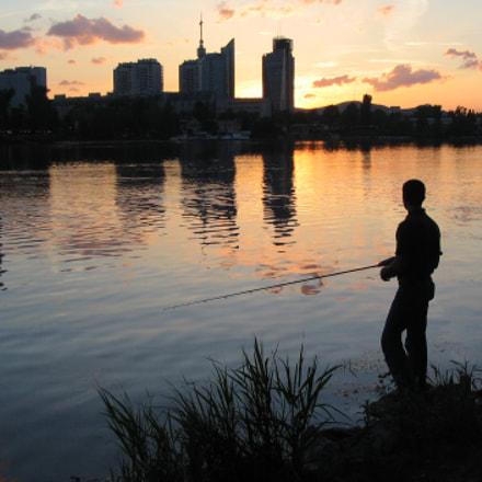 Fisherman at sunset, Canon POWERSHOT A75