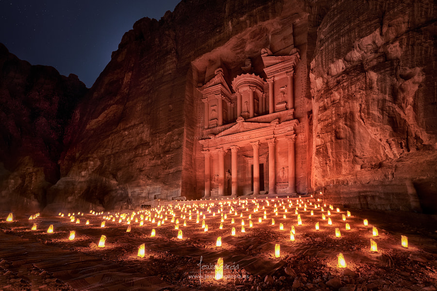 Petra by Night by Jesús M. García on 500px.com