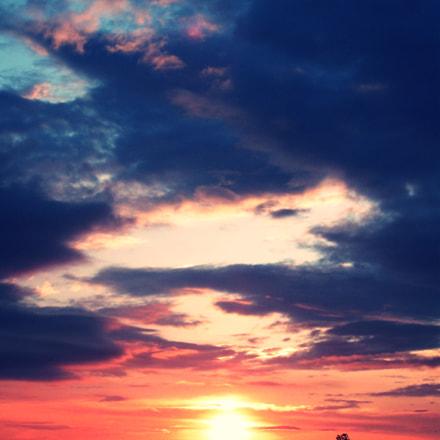 sunset, Fujifilm A850
