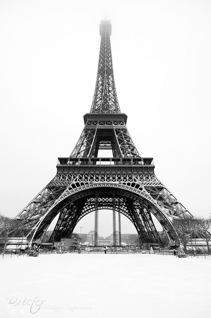 Photograph Eiffel tower under the snow by Philippe Lejeanvre on 500px