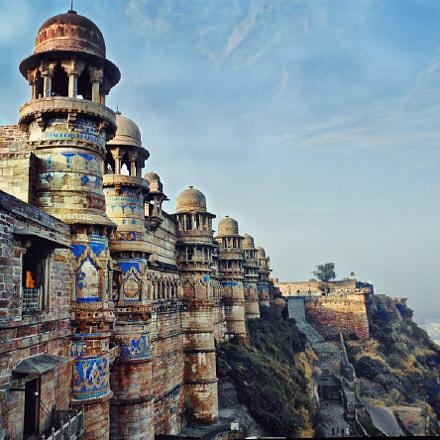 Majestic Gwalior Fort, Nikon COOLPIX S6150