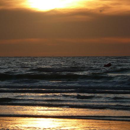 Sunset at the beach, Panasonic DMC-TZ3