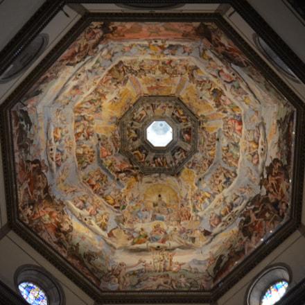Ceiling of Florence Cathedral, Nikon D5100, AF-S DX Nikkor 10-24mm f/3.5-4.5G ED