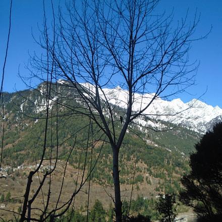 snowy mountains, Sony DSC-W800