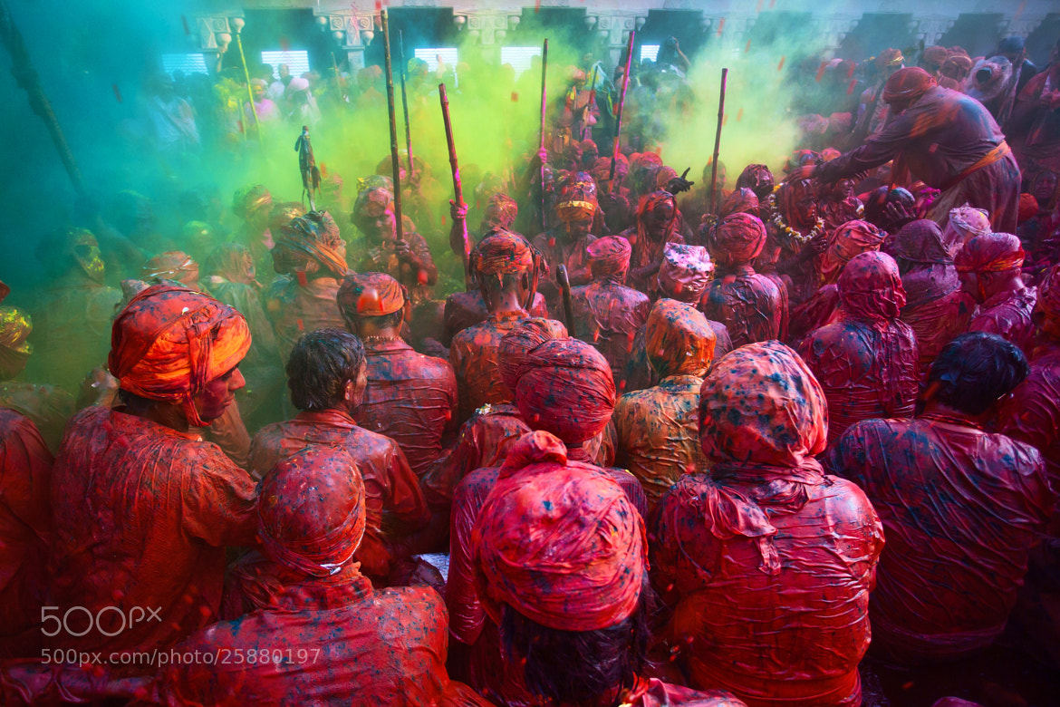 Photograph Holi, Hindu Festival of Colors, Nandgaon, India by Jitendra  Singh on 500px