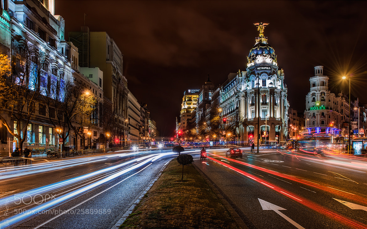 Photograph Alcala Street at Night by Javier de la Torre on 500px