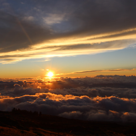Sunset in Haleakala state, Canon EOS 600D, Canon EF-S 10-22mm f/3.5-4.5 USM