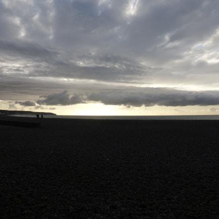 Dieppe beach at sunset, Panasonic DMC-TZ36