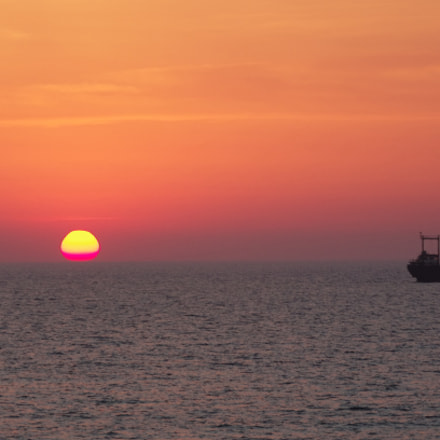 Cyprus sunset, Pentax K-5, HD PENTAX-DA 55-300mm F4-5.8 ED WR