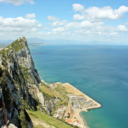 Top view from Gibraltar, Canon EOS 550D, Canon EF-S 18-55mm f/3.5-5.6 IS STM