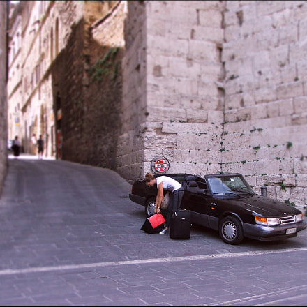 Saab 900 cabriolet., Fujifilm FinePix S5500