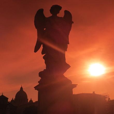 Rome. Evening's Angel..., Canon POWERSHOT SX240 HS