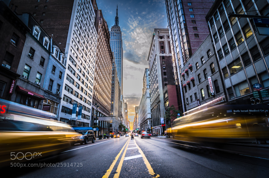 Photograph Sunset on 34th Street by Chaitanya Kapadia on 500px