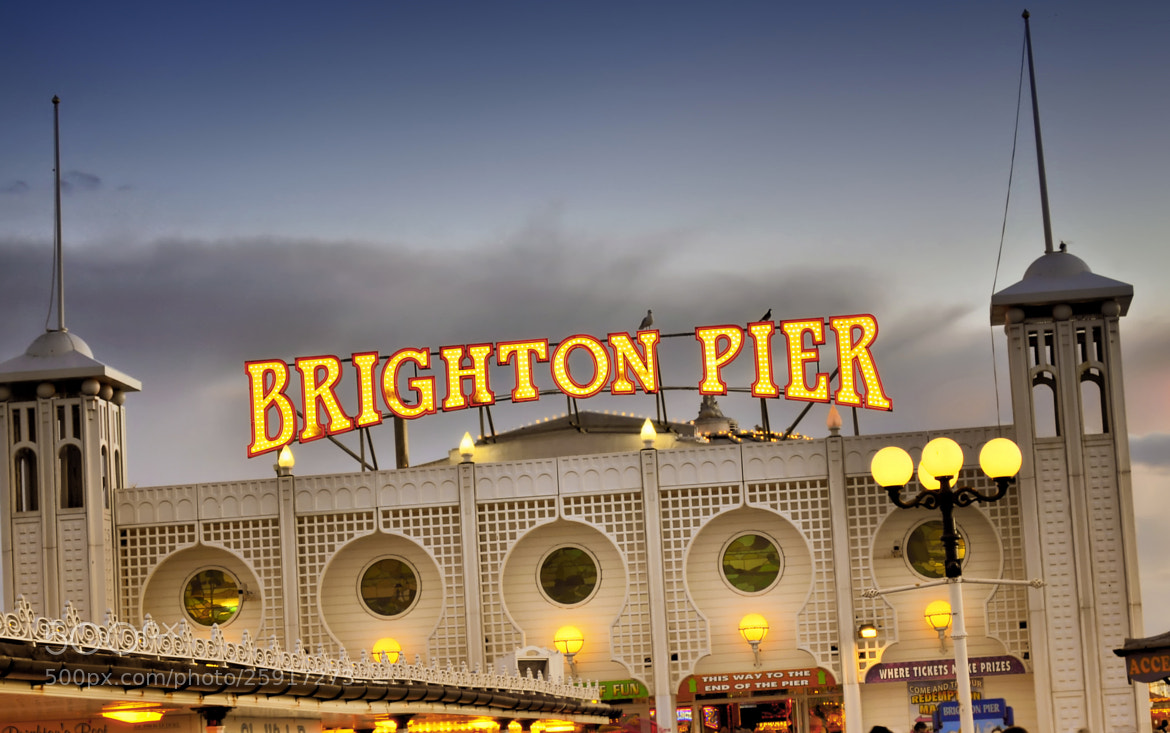 Photograph Brighton Pier Sign by Digital Craft Factory on 500px