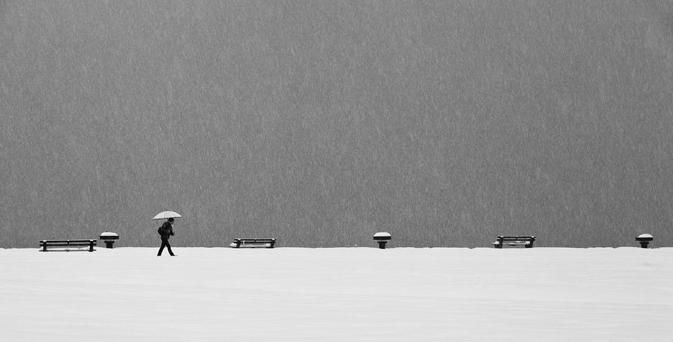 Photograph Alone in snowstorm by Eric Monvoisin on 500px