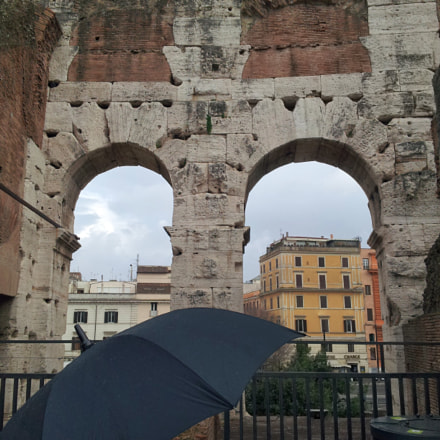 Colosseo in a rainy, Samsung Galaxy S2