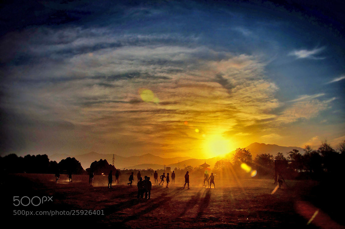 Photograph Playing Into the Setting Sun by Samir Pradhananga on 500px
