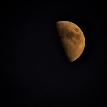 The old moon, Nikon D300, Sigma 50-500mm F4-6.3 EX APO RF HSM