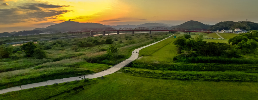 500px.comのHiro MoriokaさんによるIron bridge in shimanto river