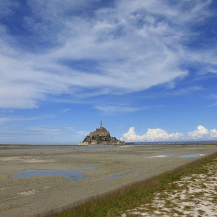 Mont-Saint-Michel low tide, Panasonic DMC-TZ36