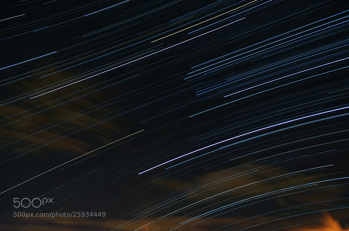 Photograph Stars (my first star trail) by Tiziano Rigo on 500px