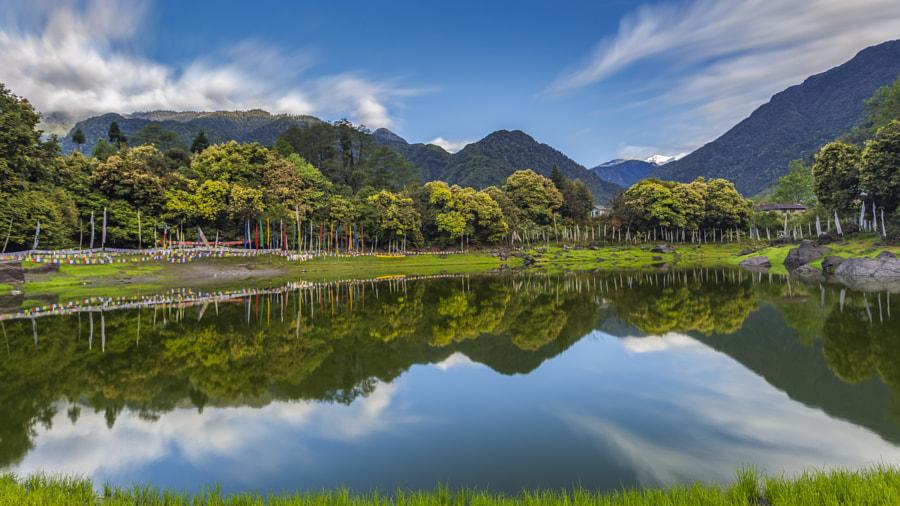 Reflections in the Kathok Lake, Yuksom