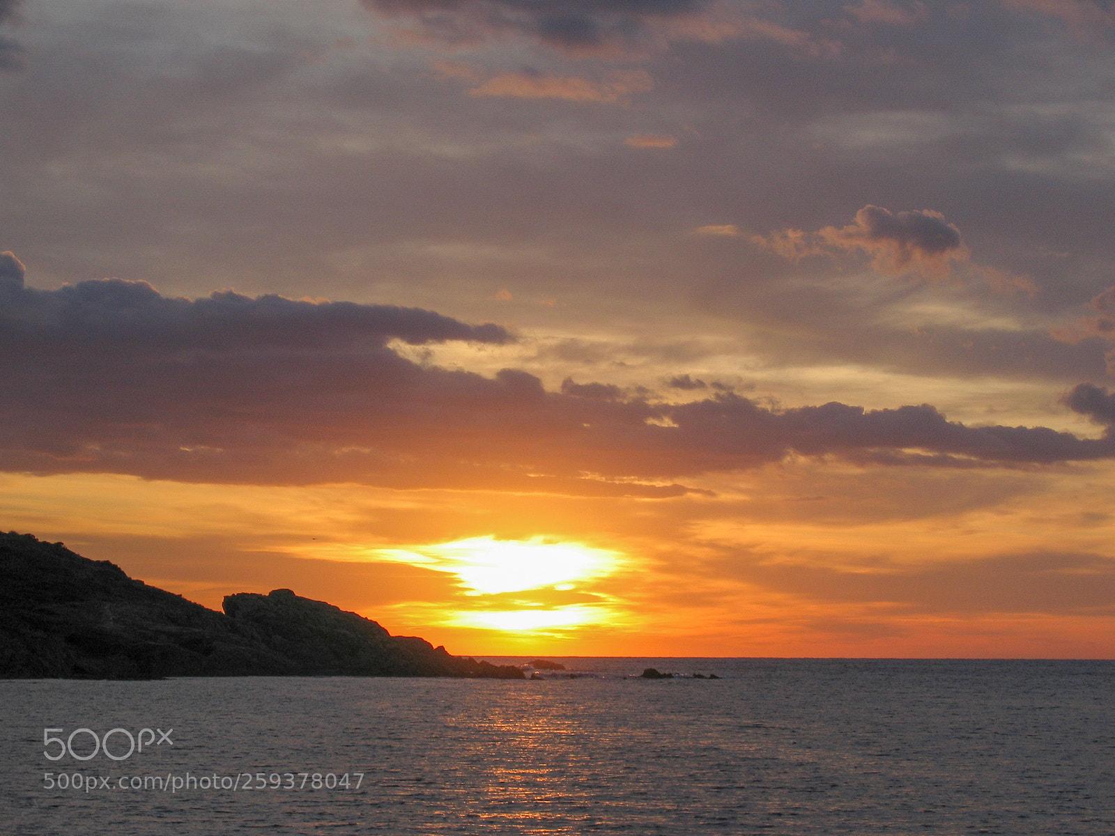 Sunset at Porquerolles, Canon POWERSHOT S50