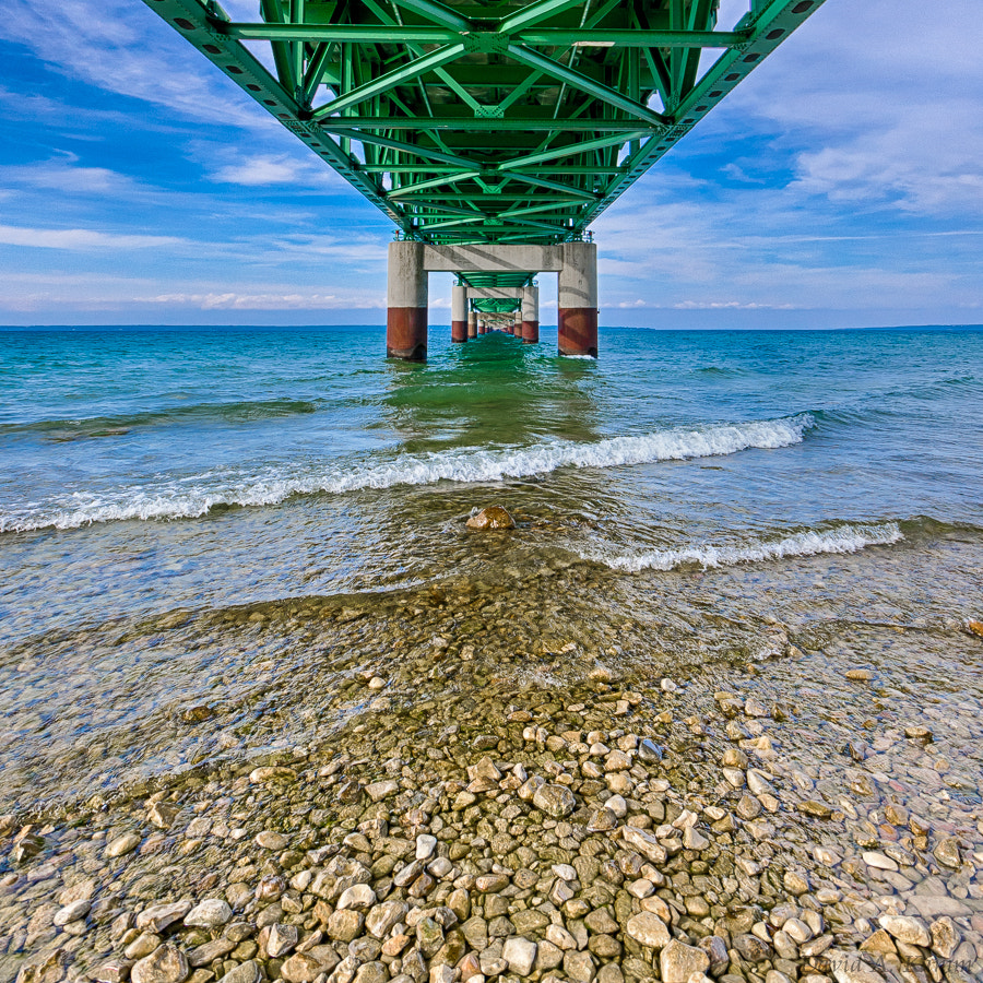 Photograph Underneath the Mackinac Bridge - Northern Michigan by David Kamm on 500px