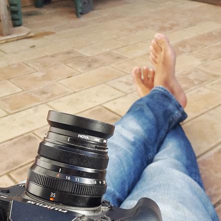 On the terrace of, Samsung Galaxy Alpha