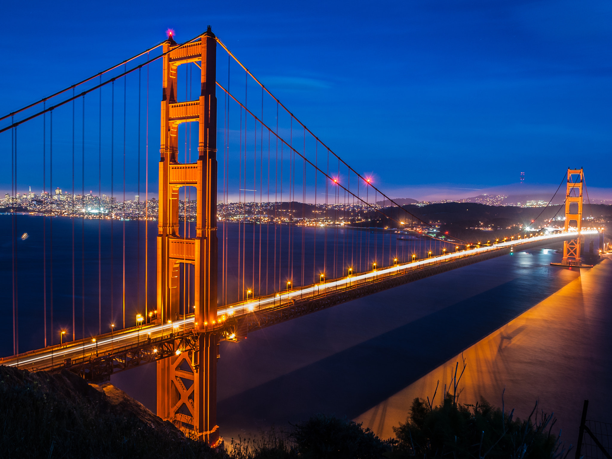 Photograph Golden Gate Bridge Blue Hour by Karsten May on 500px