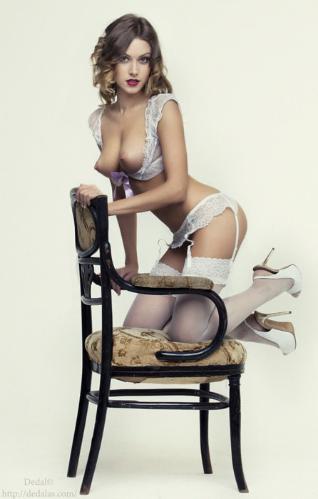 Photograph Girl in white on a chair  by Vladimir Dedal Larionov on 500px