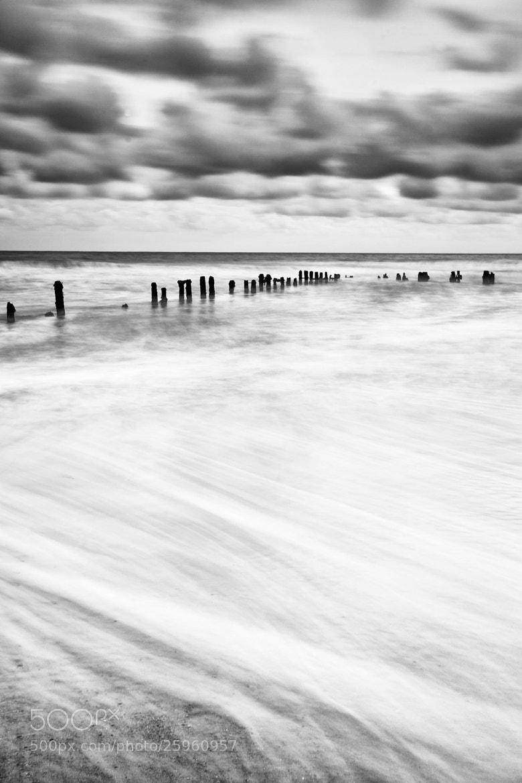 Photograph Sandsend Mono Tide  by Carl Mickleburgh on 500px