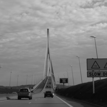 Approaching Pont de Normandie, Panasonic DMC-TZ36