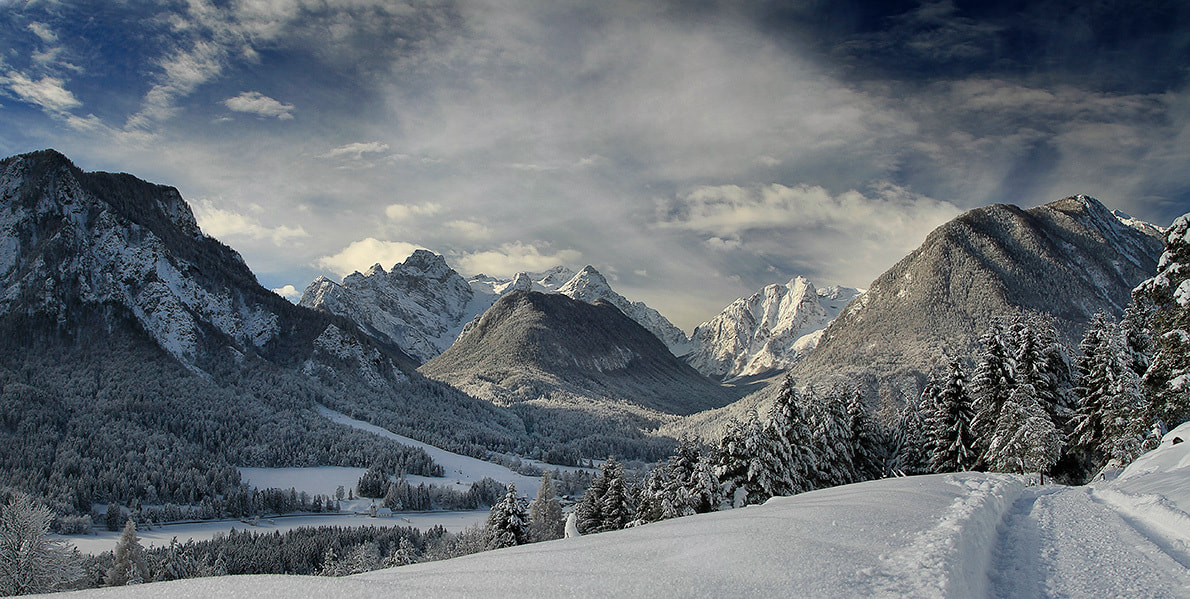 Photograph Mojstrana and Triglav - winter by Bor Rojnik on 500px