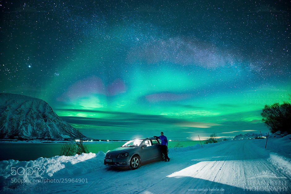Photograph Aurora above my head by Stefan Hefele on 500px