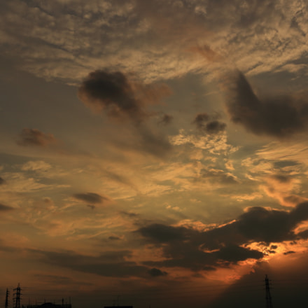 Sunset sky, Canon EOS KISS X7, Canon EF-S 24mm f/2.8 STM