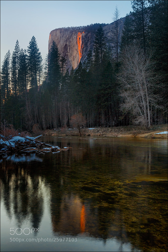 Photograph Horsetail Fall Reflection  by Don Smith on 500px