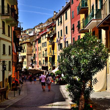 Street of Riomaggiore, Nikon D3100, Sigma 10-20mm F3.5 EX DC HSM