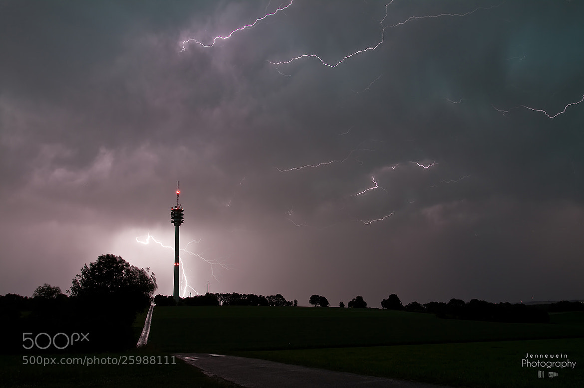 Photograph Lightning-Tower by Alex Jennewein on 500px