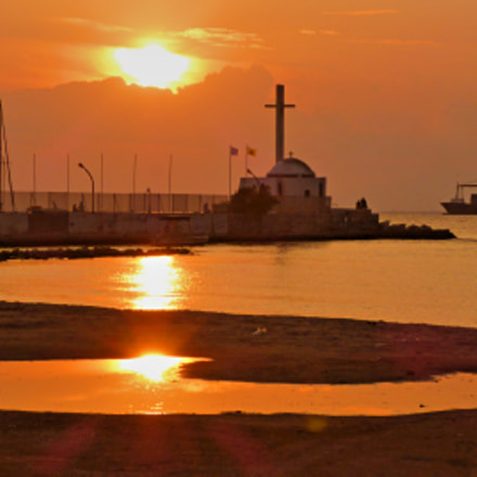 Gazing a romantic sunset, Panasonic DMC-FT5