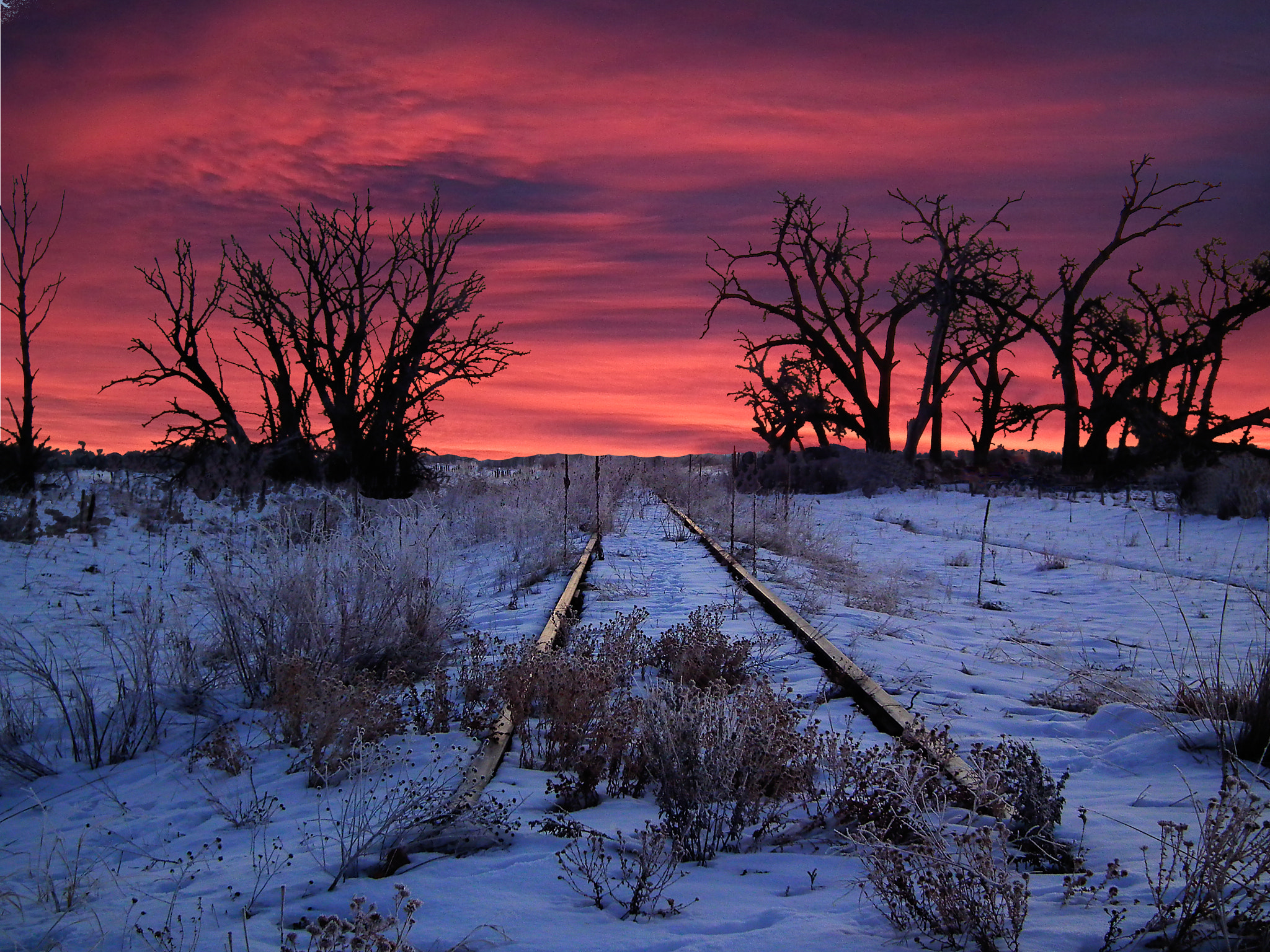 Photograph Railroad tracks at sunset by Lloyd Linnell on 500px