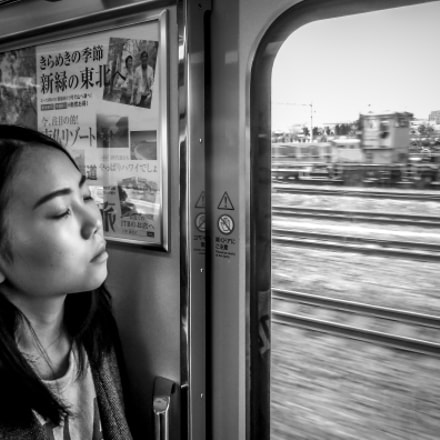 Girl in a train, Nikon COOLPIX S6000