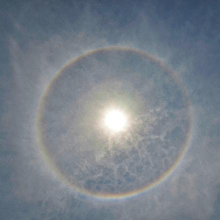 Full circle rainbow around, Nikon D5100