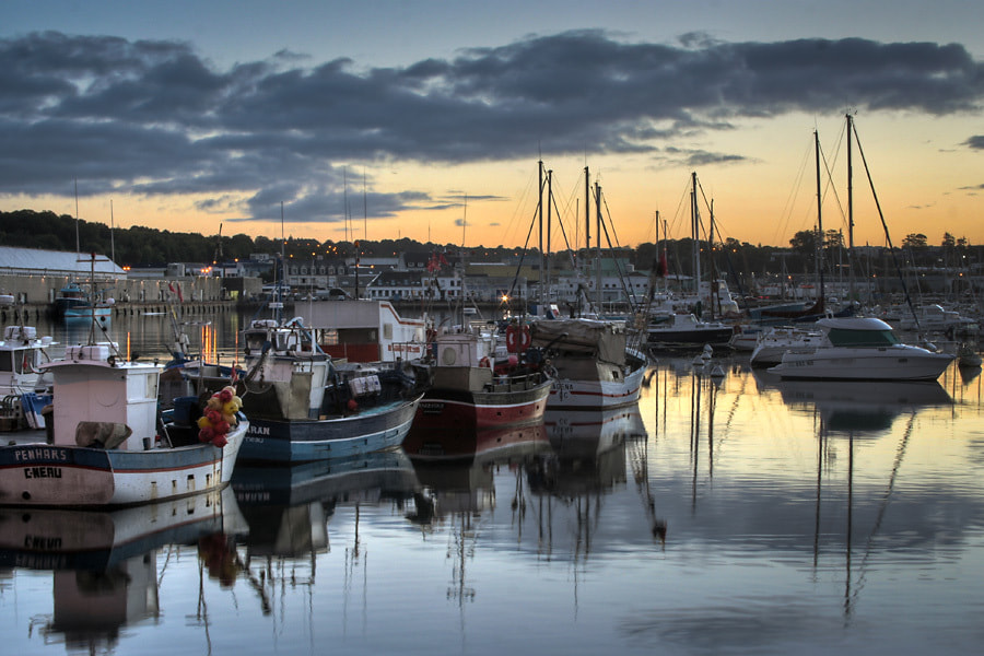 Photograph Harbour of Concarneau by Jens Sieckmann on 500px