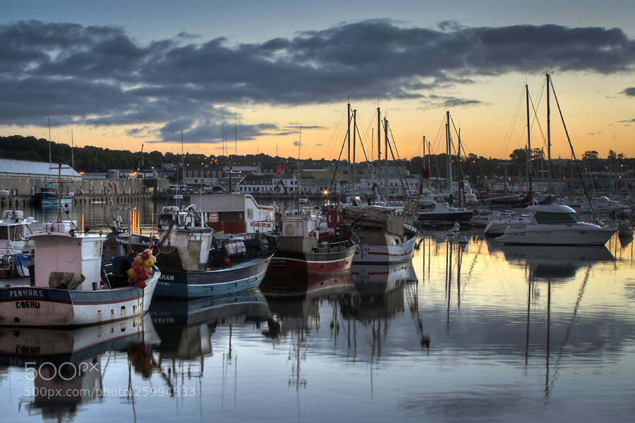 Photograph Harbour of Concarneau by Jens Sieckmann on 500px